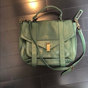 proenza schouler green cross body big bag